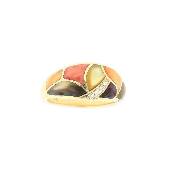 Kabana Riviera Wide Inlaid Dome Ring Koser Jewelers Mount Joy, PA