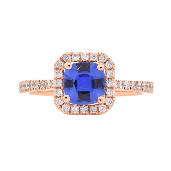 LeVian Tanzanite & Diamond Halo Ring 14K Rose Gold Koser Jewelers Mount Joy, PA