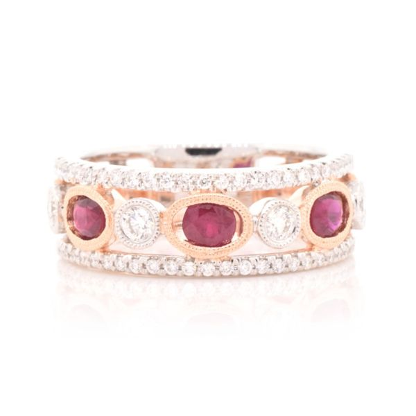 Oval Ruby & Diamond Band Koser Jewelers Mount Joy, PA
