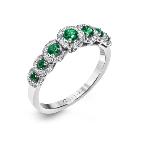 Zeghani Delicate Diva Emerald and Diamond Band Koser Jewelers Mount Joy, PA
