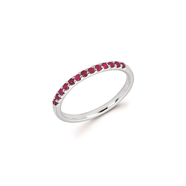 Ruby Shared Prong Birthstone Ring Koser Jewelers Mount Joy, PA
