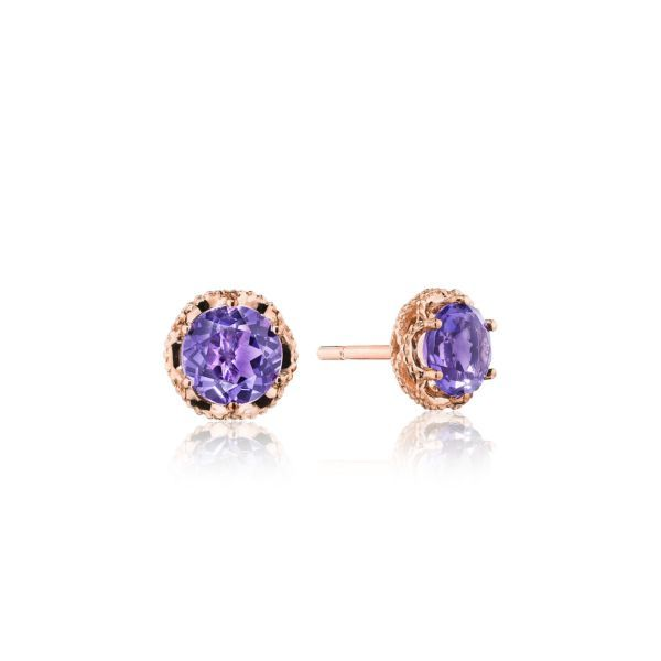 Tacori Petite Crescent Crown Amethyst Studs Koser Jewelers Mount Joy, PA