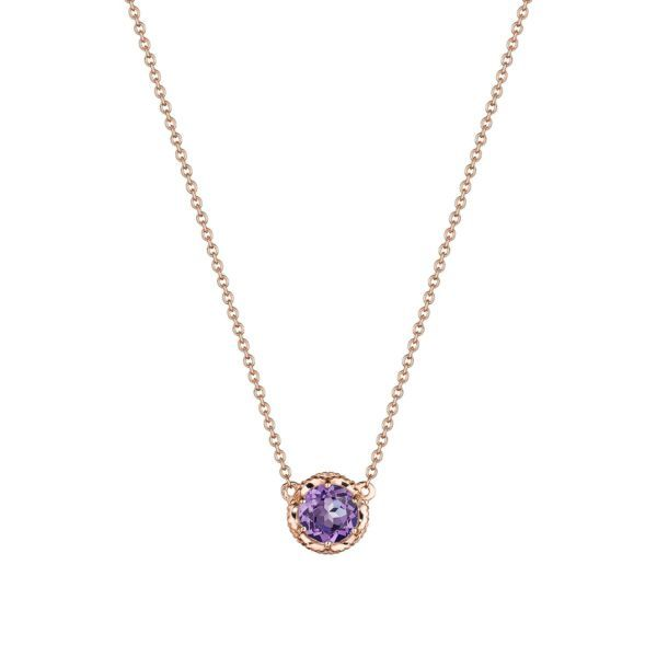 Tacori Petite Crescent Amethyst Station Necklace Koser Jewelers Mount Joy, PA