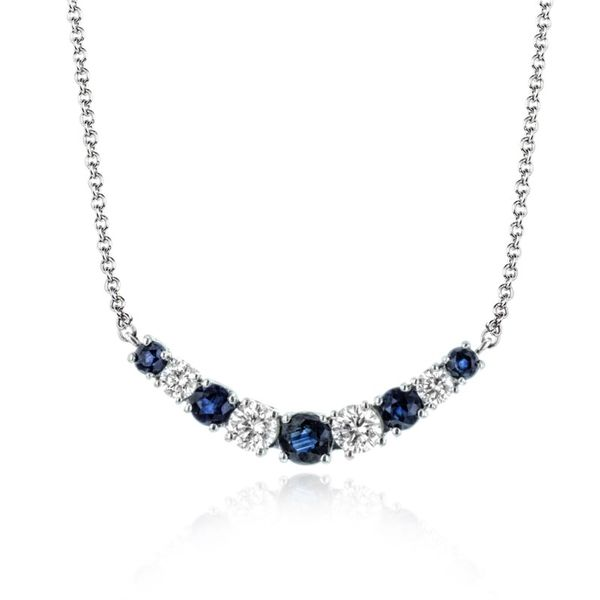 Zeghani Classic Beauty Sapphire and Diamond Necklace Koser Jewelers Mount Joy, PA