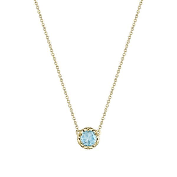 Tacori Petite Crescent Sky Blue Topaz Station Necklace Koser Jewelers Mount Joy, PA