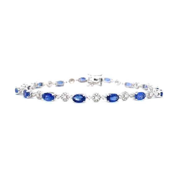 Oval Diamond & Sapphire Bracelet Koser Jewelers Mount Joy, PA