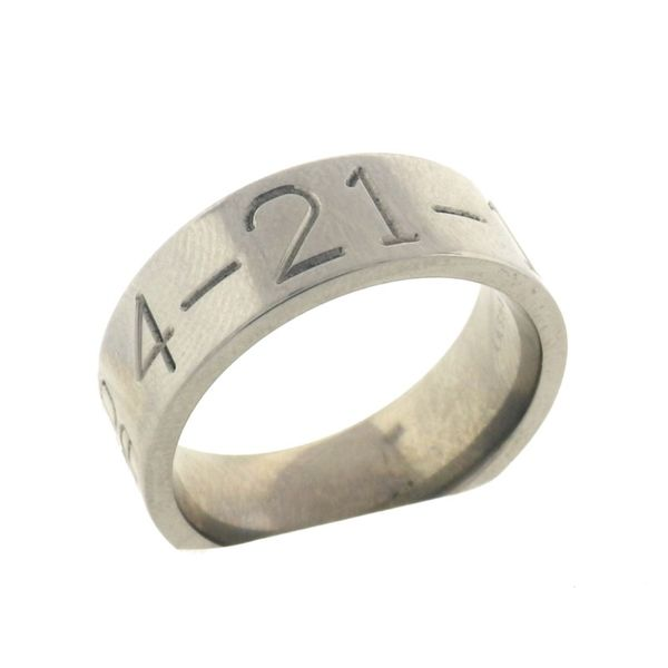 Lashbrook 8 mm Duck Band Wedding Ring in Titanium, Made to Order Koser Jewelers Mount Joy, PA