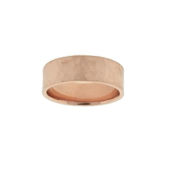 Lieberfarb 7 mm Flat Hammered Wedding Ring Koser Jewelers Mount Joy, PA