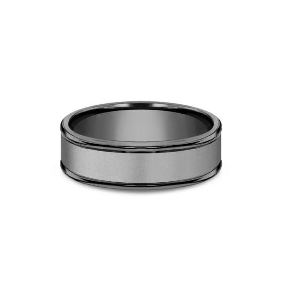 Benchmark 7mm Sandblasted Center High Polish Edges Comfort Fit Tantalum Men's Wedding Band Koser Jewelers Mount Joy, PA