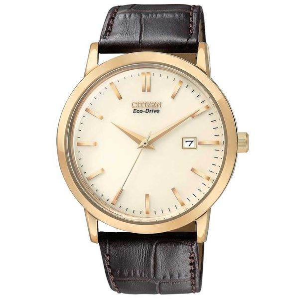 Citizen® Eco-Drive® Men's Ivory Dial Gold Tone Watch BM7193-07B Koser Jewelers Mount Joy, PA