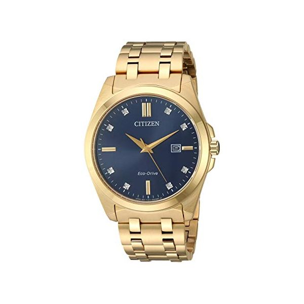 Citizen® Eco-Drive® Men's Corso Blue Dial Gold Tone Watch Koser Jewelers Mount Joy, PA