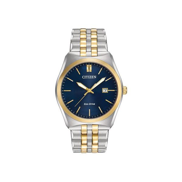Citizen® Eco-Drive® Men's Corso Blue Dial Two Tone Watch Koser Jewelers Mount Joy, PA