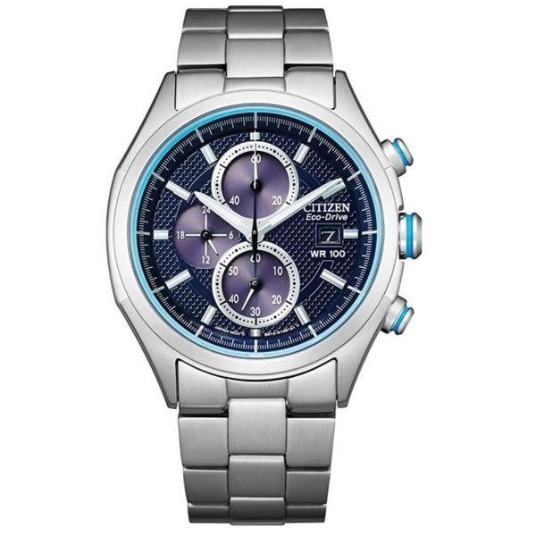 Citizen® Eco-Drive® Men's Blue Dial Chronograph Stainless Steel Watch Koser Jewelers Mount Joy, PA