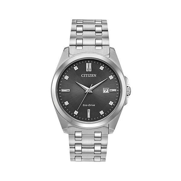 Citizen® Eco-Drive® Men's Diamond Accent Stainless Steel Watch Koser Jewelers Mount Joy, PA