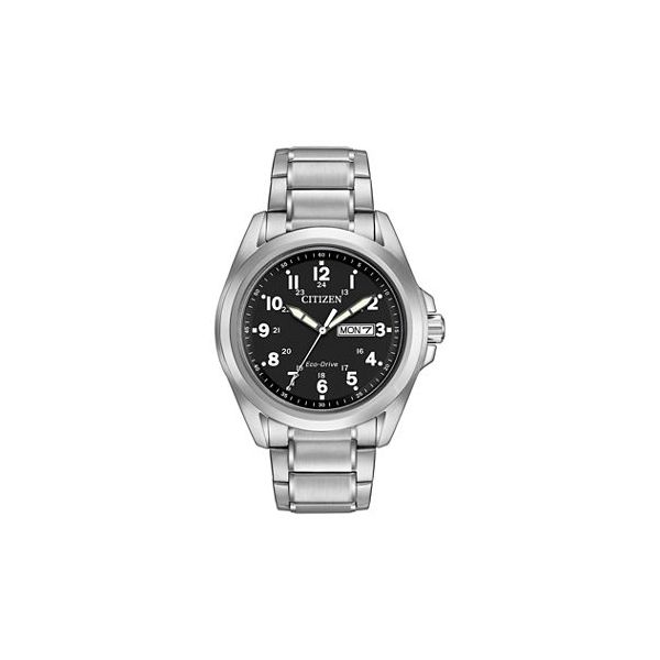 Citizen® Eco-Drive® Men's Black Dial Stainless Steel Watch Koser Jewelers Mount Joy, PA