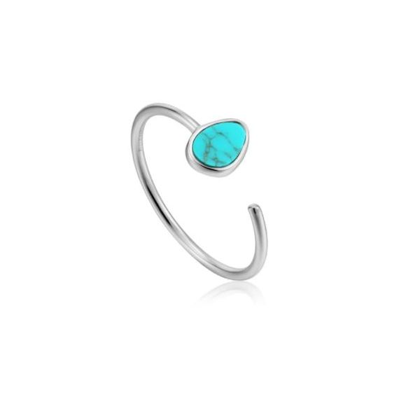 Ania Haie Turning Tides Tidal Turquoise Adjustable Ring Koser Jewelers Mount Joy, PA
