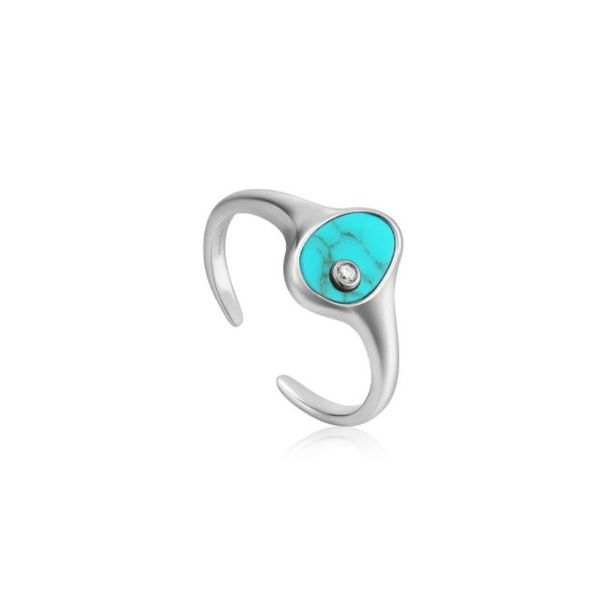 Ania Haie Tidal Turquoise Adjustable Signet Ring Koser Jewelers Mount Joy, PA