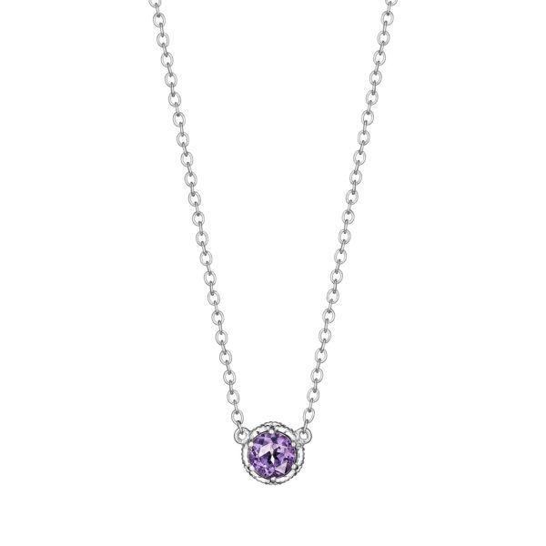 Tacori Crescent Crown Amethyst Necklace Koser Jewelers Mount Joy, PA