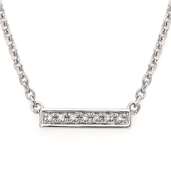 0.02 tdw Trapeze Bar Necklace, DD14P90 Koser Jewelers Mount Joy, PA