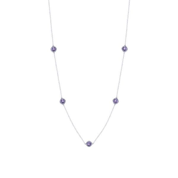 Tacori Crescent Embrace 5 Station Amethyst Necklace Koser Jewelers Mount Joy, PA