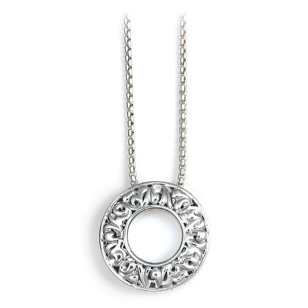 "Charles Krypell, ""I Love You 365 Days A Year"" Circle Pendant, Sterling, Chain Included Koser Jewelers Mount Joy, PA"