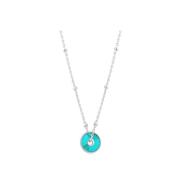 Ania Haie Hidden Gem Turquoise Disc Necklace Sterling Silver Koser Jewelers Mount Joy, PA