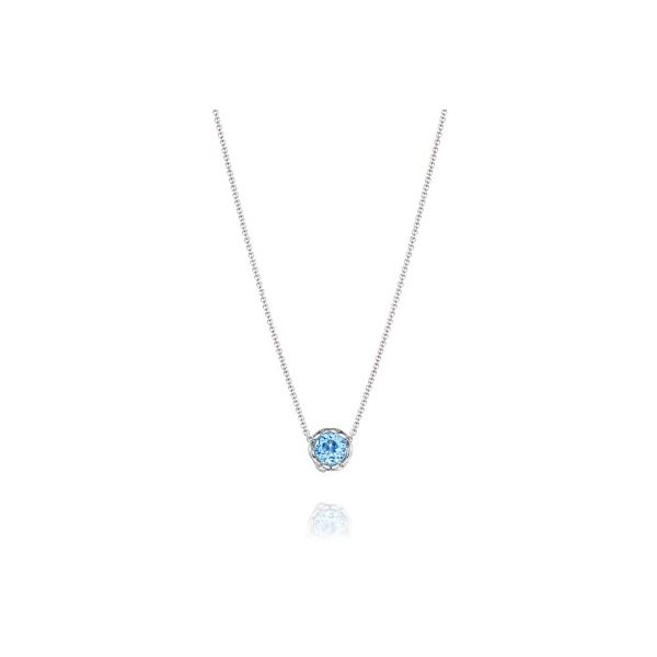 Tacori Swiss Blue Topaz Crescent Station Necklace Koser Jewelers Mount Joy, PA