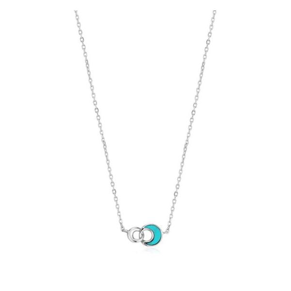 Tidal Turquoise Crescent Link Necklace Koser Jewelers Mount Joy, PA
