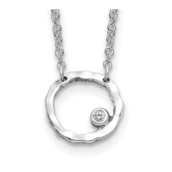 Cubic Zirconia Circle Pendant Koser Jewelers Mount Joy, PA