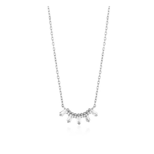 Ania Haie Glow Getter Cubic Zirconia Baguette Solid Bar Necklace Koser Jewelers Mount Joy, PA