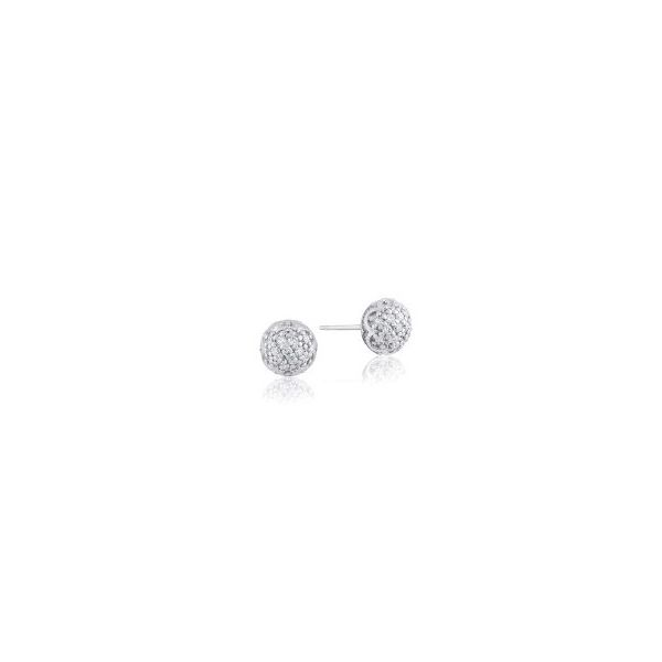 Tacori Sonoma Mist Simple Pave Dew Drop Studs Koser Jewelers Mount Joy, PA