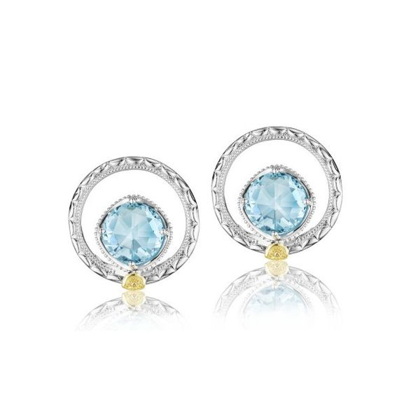 Tacori Island Rains Sky Blue Topaz Bloom Gem Studs Koser Jewelers Mount Joy, PA
