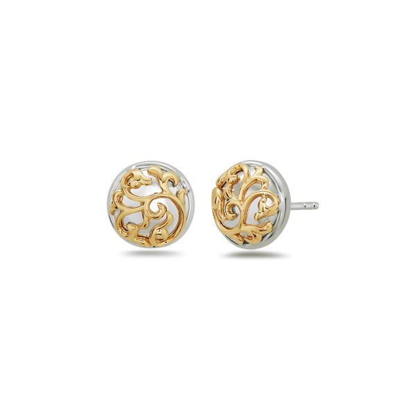 Charles Krypell, Ivy Lace Stud Earrings, Sterling and 18KY Koser Jewelers Mount Joy, PA