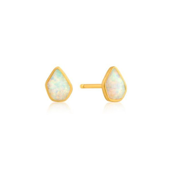Ania Haie Mineral Glow Opal Colour Stud Earrings Gold Tone Sterling Silver Koser Jewelers Mount Joy, PA