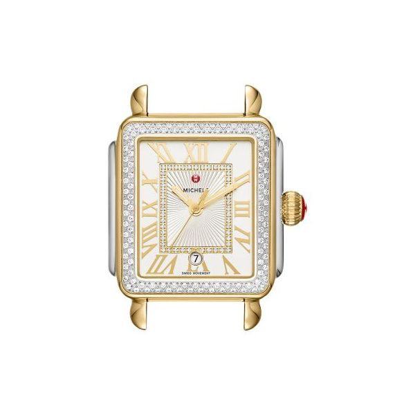 Michele 0.71 tdw Deco Stainless & Gold Tone Madison Watch Head MW06T01C5018 Koser Jewelers Mount Joy, PA