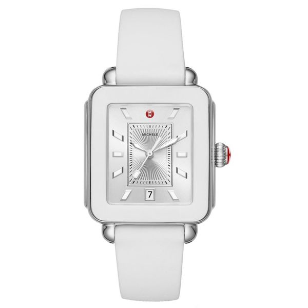 Michele Deco Sport Stainless White Silicone Watch MWW06K000004 Koser Jewelers Mount Joy, PA