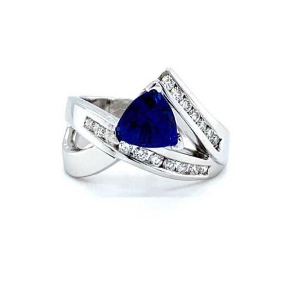 Trillion Lab Created Sapphire Freeform Ring Koser Jewelers Mount Joy, PA