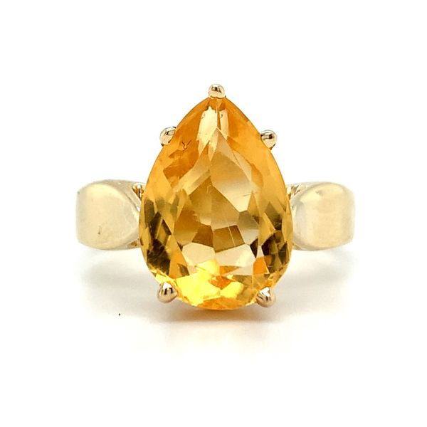 Pear Shape Citrine Ring Koser Jewelers Mount Joy, PA
