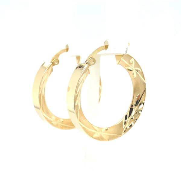 Polished & Textured Hoop Earrings Koser Jewelers Mount Joy, PA