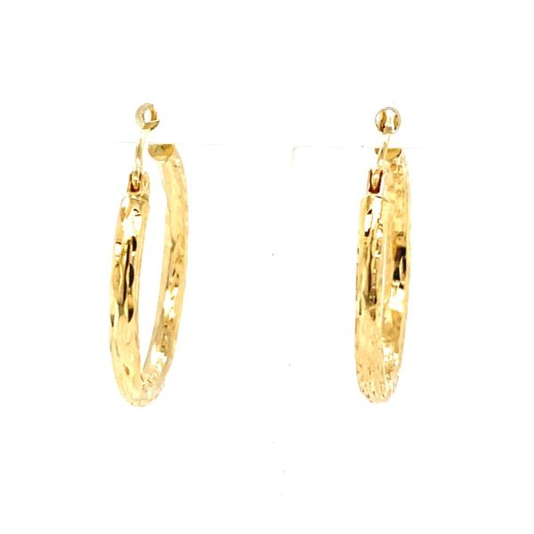 Diamond-Cut Hoop Earrings Koser Jewelers Mount Joy, PA