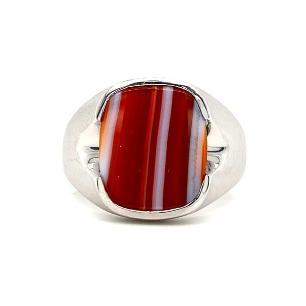 Rectangular Agate Ring Koser Jewelers Mount Joy, PA