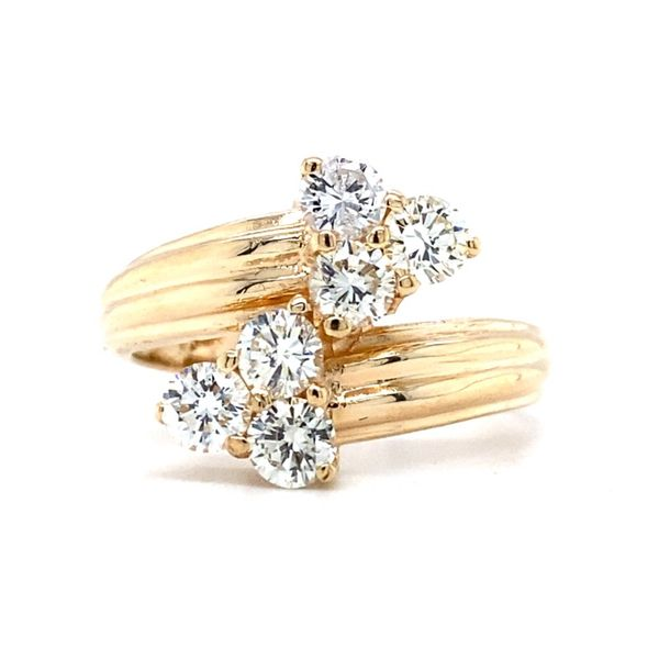 Six Round Diamond Bypass Ring Koser Jewelers Mount Joy, PA