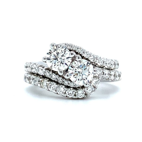 Two Round Diamond Bypass Engagement Ring with Matching Wedding Band Koser Jewelers Mount Joy, PA