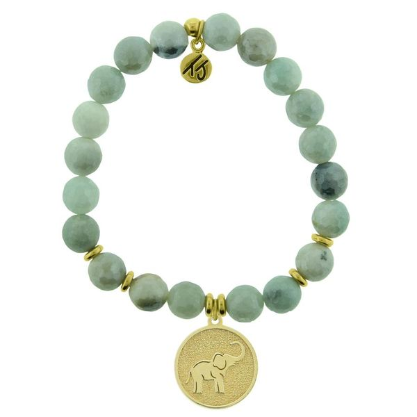 TJazelle Lucky Elephant Gold Bracelet in Amazonite Koser Jewelers Mount Joy, PA