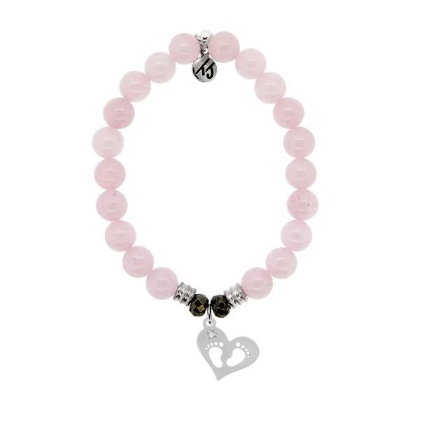 TJazelle Baby Feet Bracelet in Rose Quartz Koser Jewelers Mount Joy, PA