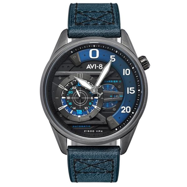 AVI-8 Hawker Harrier II Ace Of Spades Automatic Midnight Navy Blue Watch Koser Jewelers Mount Joy, PA