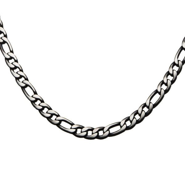 Inox Men's Black Plated Stainless Figaro Chain Koser Jewelers Mount Joy, PA