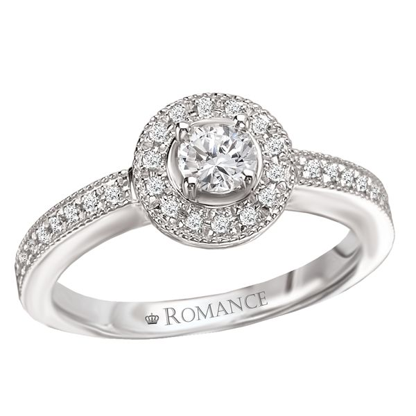 Round Halo Engagement Ring Kiefer Jewelers Lutz, FL