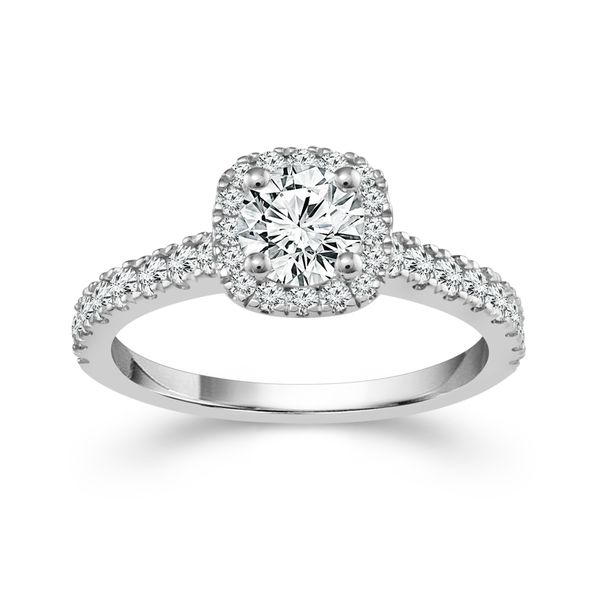 1/2ctw Cushion Halo Engagement Ring Kiefer Jewelers Lutz, FL