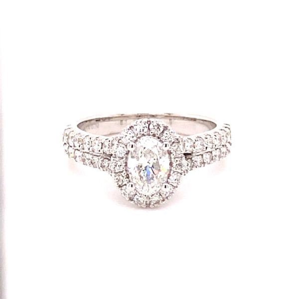 Oval Diamond Halo Engagement Ring Kiefer Jewelers Lutz, FL